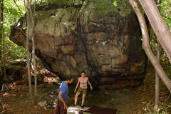 Rock Climbing Photo: An overview of The Dragon Block, Foley's Wall Left...