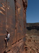 "Rock Climbing Photo: Bearing down for a fight to the finish on ""Pu..."