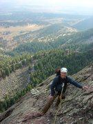 Rock Climbing Photo: Me on the Third, Oct '09.