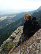 Rock Climbing Photo: SteveZ high up on the 3rd.  Oct '09.