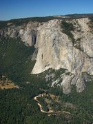 Rock Climbing Photo: El Cap from Taft Point across the valley.  Septemb...