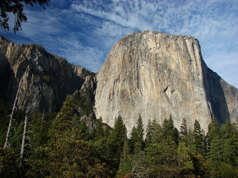 El Cap from the valley, Sept 09.