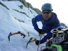 Rock Climbing Photo: Climbing the Chere Couloir