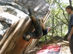 Rock Climbing Photo: Jonathan Marek moving into first crux.