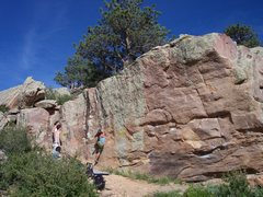 Rock Climbing Photo: The start to Rocky Top on the Extension Wall.