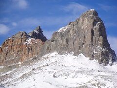 Rock Climbing Photo: Golden Horn from upper Ice Lake