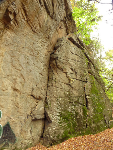 Rock Climbing Photo: The first major feature on the right side of the m...