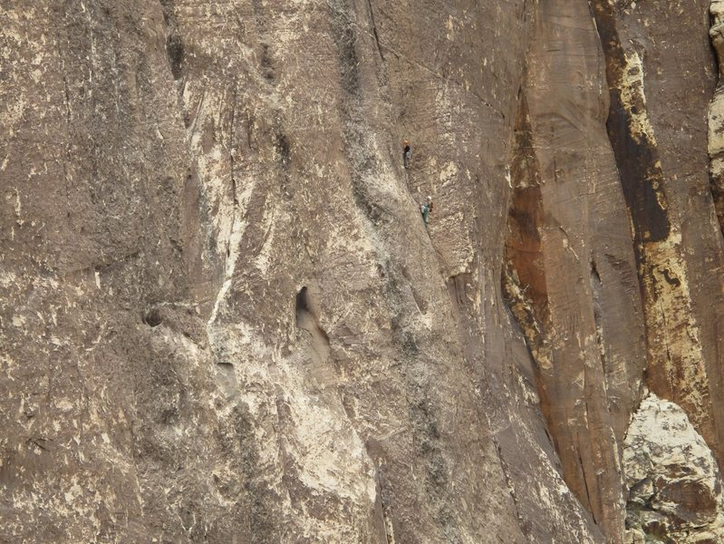 Rock Climbing Photo: Climbers on Sour Mash, I believe. Photo taken Oct ...