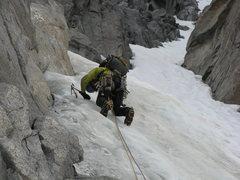 Rock Climbing Photo: Calf Burn in the V-Notch!