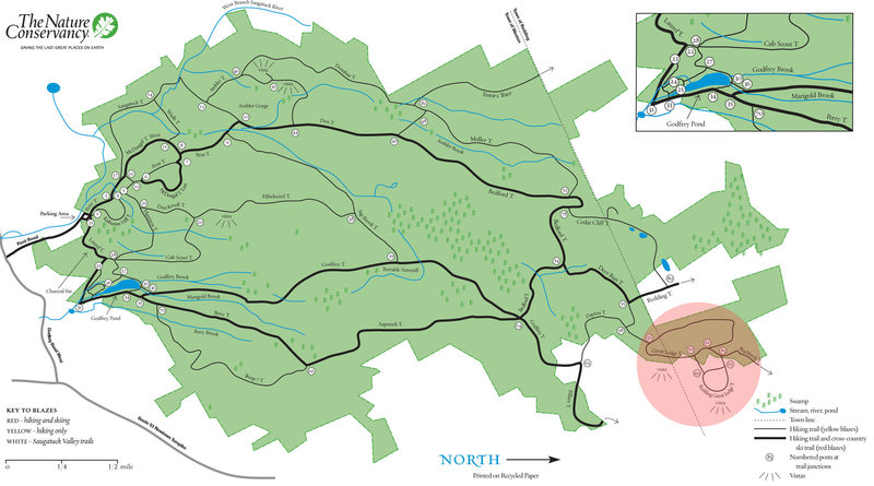 Rock Climbing Photo: This is the trail map for Devil's Den.  Notice the...