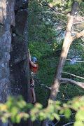 Rock Climbing Photo: me leading keyhole direct Photo:Taylor Krosbakken
