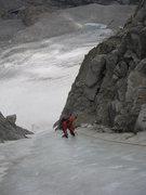 Rock Climbing Photo: Ginger Follows the V-Notch
