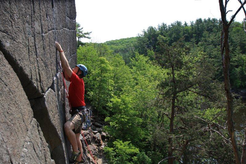 Rock Climbing Photo: me at the start of the bulge Photo:Taylor Krosbakk...