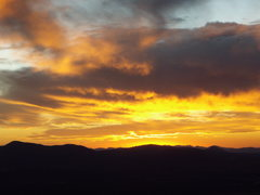 Rock Climbing Photo: Sunset from the Front Porch at Granite Mountain