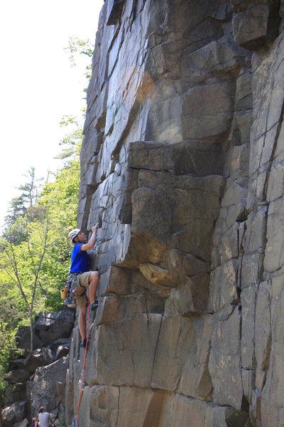 Rock Climbing Photo: andrew on lead Photo:Taylor Krosbakken
