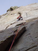 Rock Climbing Photo: 1st pitch of The Slammer Jam