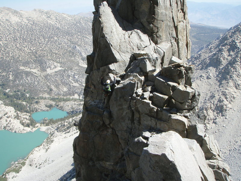 End of pinnacle traverse, just after long 4th class section.