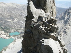 Rock Climbing Photo: End of pinnacle traverse, just after long 4th clas...