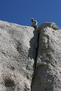 Rock Climbing Photo: Grapevine Canyon Nathan at the top of Committee Cr...