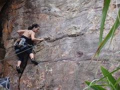 Rock Climbing Photo: climbing in Lung Dung
