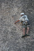 Rock Climbing Photo: Grapevine Canyon Nathan slinging a chicken head on...