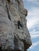 Rock Climbing Photo: Jia-Hui, my cousin, climbing for the first time