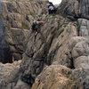 scrambling around Lung Dung rock