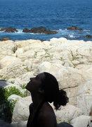 Rock Climbing Photo: Me.  Belay slave.