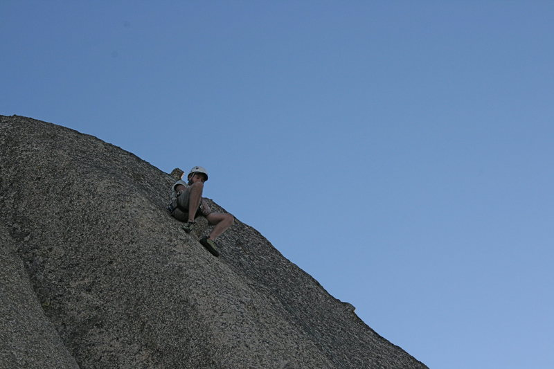 Rock Climbing Photo: Grapevine Canyon Nathan taking a break on Nice Mel...