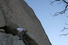 Rock Climbing Photo: Grapevine Canyon Me on the lower part of Nice Melo...