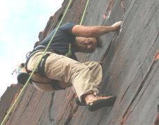 Rock Climbing Photo: Michael Leonard on Panty Raid. 5.10 (Panty Wall)