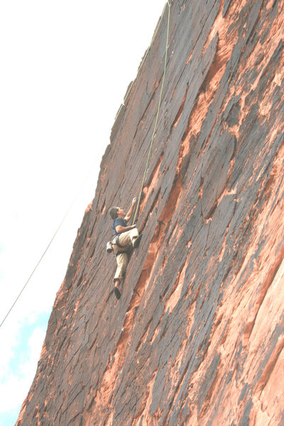 Heading for the crux on Panty Raid