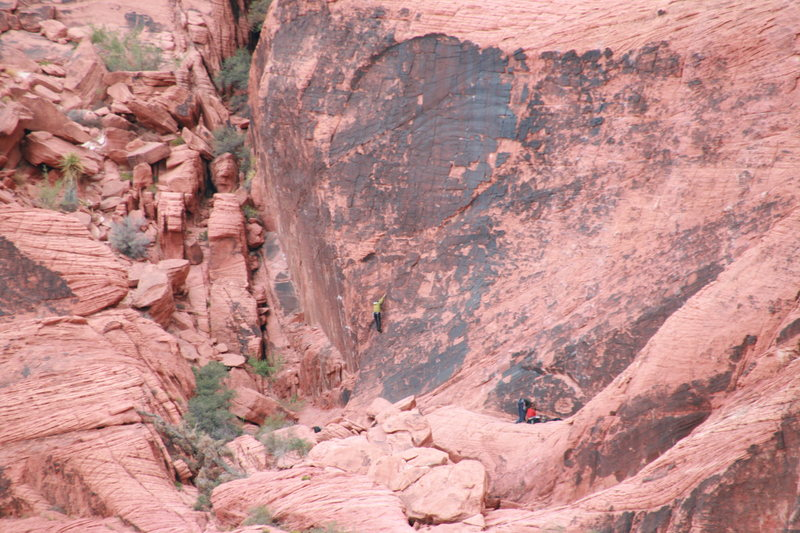 Rock Climbing Photo: Cassondra soloing on Panty Wall.  Edible Panties?