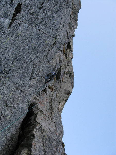 Rock Climbing Photo: Pitch 2.