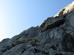 Rock Climbing Photo: After climbing the overhang (P3).