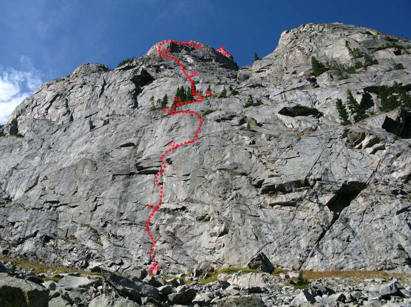 Rock Climbing Photo: Schematics of the route.