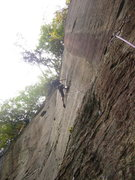 Rock Climbing Photo: Enjoying reachy moves to great pockets!