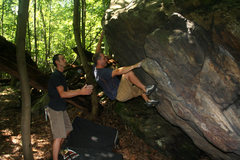Rock Climbing Photo: Visiting climber Matt Johns takes a run on PUR poc...