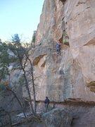 Rock Climbing Photo: Seth on [Watch Crystal Crack].