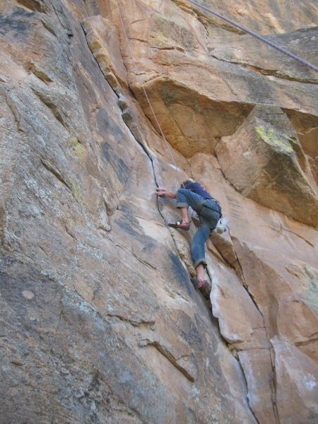 Top roping [Watch Crystal Crack], 5.9+.