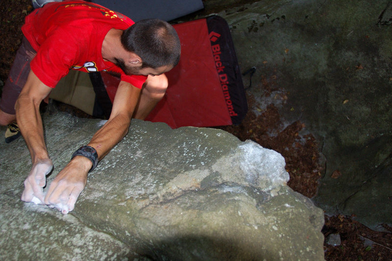 Rock Climbing Photo: Tim on Sleeping, Snoring, Sampson V4+