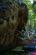 Rock Climbing Photo: Carl Samples making the start up the problem Hot W...