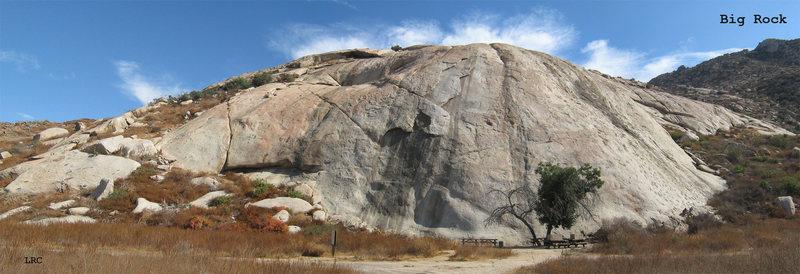 Wide view of Big Rock