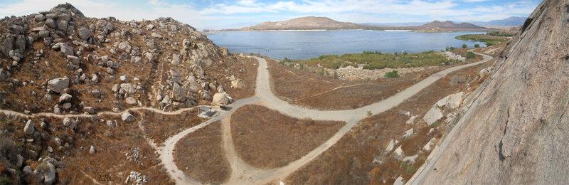 Rock Climbing Photo: Lake view from rock.