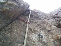 Rock Climbing Photo: Geezer wall.  This is the .10b I believe.