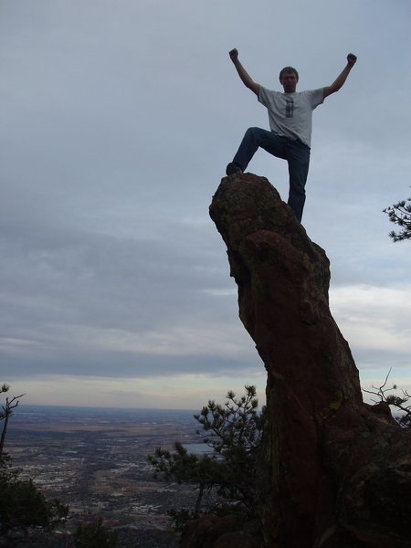 Rock Climbing Photo: On top of the world!