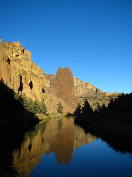 Rock Climbing Photo: Smith Rock on a beautiful October afternoon.