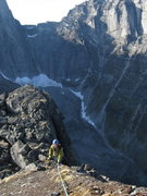 Rock Climbing Photo: Ehrin Irvin finishing the summit scramble on East ...