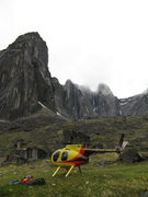 Rock Climbing Photo: East Huey Spire dominates the left side of this ph...