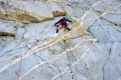 Rock Climbing Photo: Leading up Cragganmore (the Climb is better than t...